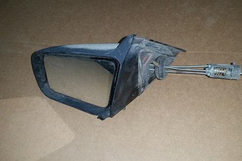 87-93 Mustang LH manual exterior mirror-used