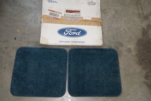 Ford Rear floor mat kit-Blue-NOS