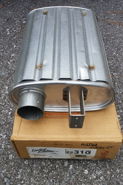 83-84 Ford Mustang GT Turbo OE replacement muffler-New Old Stock