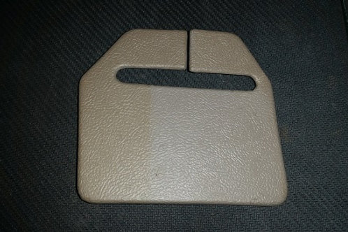 90-92 Titanium Rear retractable seat belt trim cover-LH-used