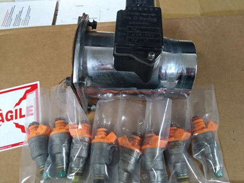 Set of 8 36 lb/hr fuel  injectors with 75mm Pro M mass airflow meter-used