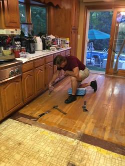 Kitchem Remodel Floor Removal