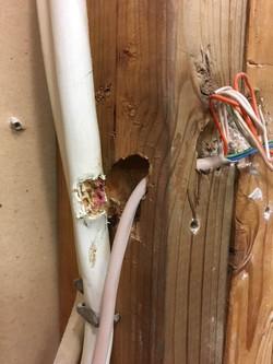 Kitchen Wires Before Repair