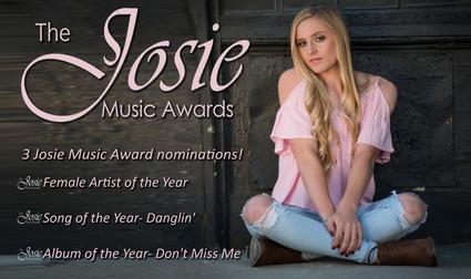 3 Josie Music Award Nominations!