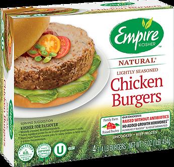 Lightly Seasoned Chicken Burgers