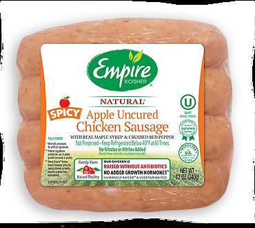Uncured Spicy Apple Chicken Sausage