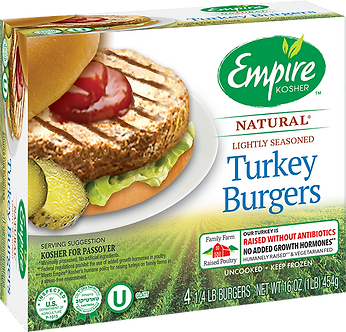 Lightly Seasoned Turkey Burgers