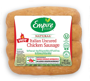 Uncured Hot Italian Chicken Sausage