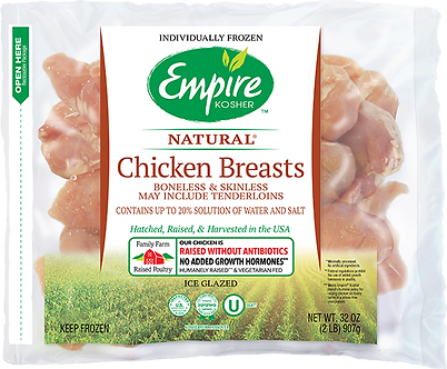 Individually Frozen Boneless Skinless Chicken Breasts