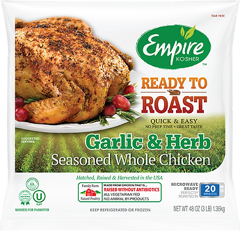 Ready to Roast Garlic & Herb Seasoned Whole Chicken