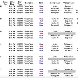 Summer Hockey Schedule!
