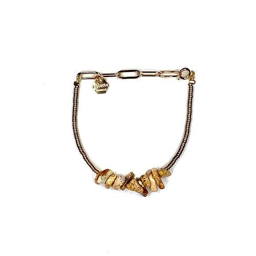 """Bracelet """"Saména"""" Jaspe paysage"""
