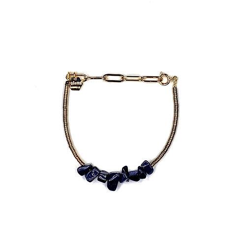 """Bracelet """"Saména"""" Blue Sand Stone"""