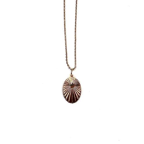 "Collier ""Médaille ciselée"" or"