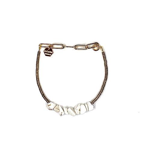 """Bracelet """"Saména"""" Magnésite"""