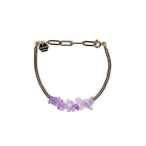"Bracelet ""Saména"" Améthyste lavande"