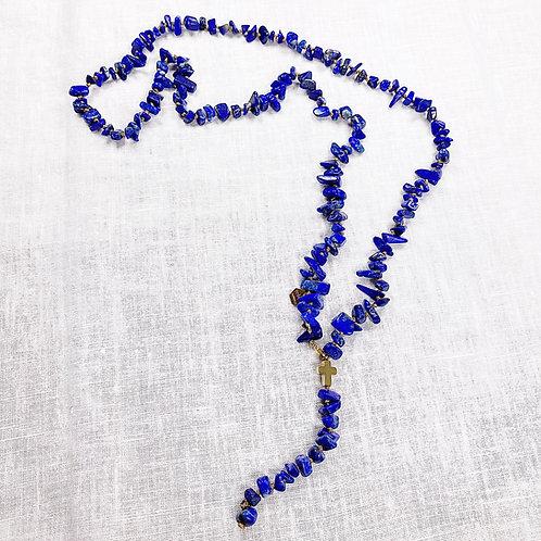 """Sautoir """"Queyrons"""" Lapis lazuli"""