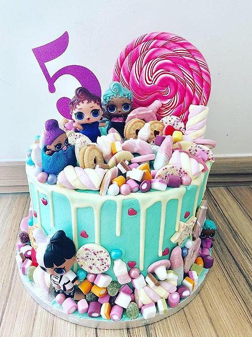 LOL Dolls Themed Cake