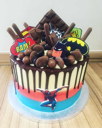 Superhero Drip Cake