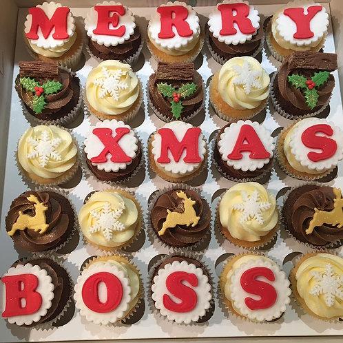 Personalised Christmas Cupcakes