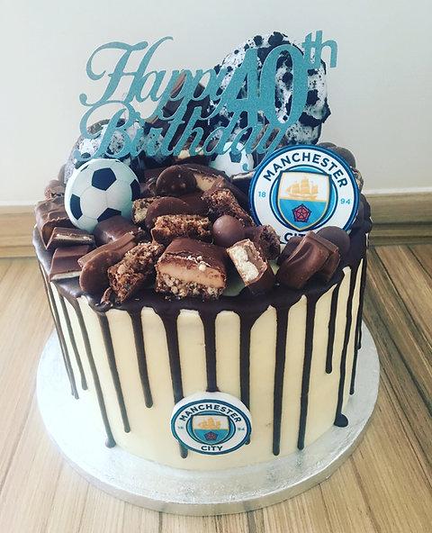 Football Chocolate Explosion Cake