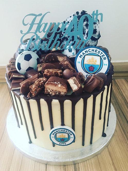 Football & Chocolate Explosion Cake