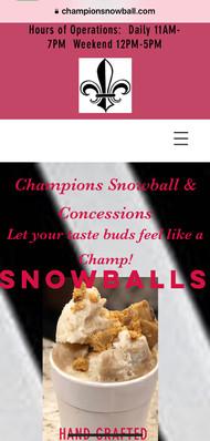 Champions Snowball & Concession