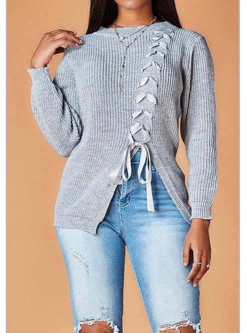 Curvy Bandage Designed Sweater