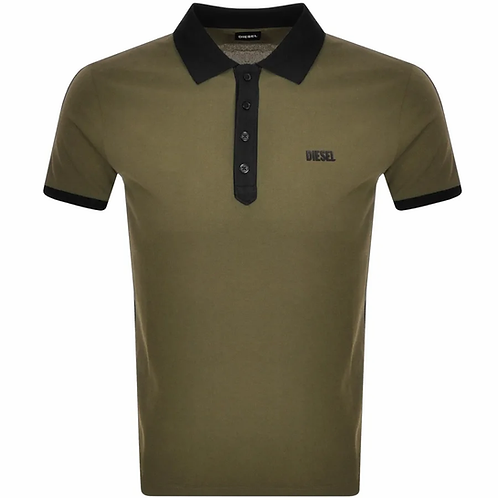 Diesel T Skatt Polo T Shirt Green