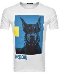 Replay Crew Neck Logo T Shirt