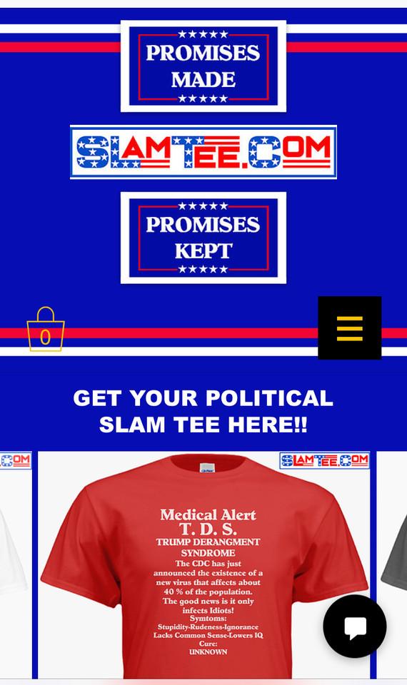 Slam Tee website