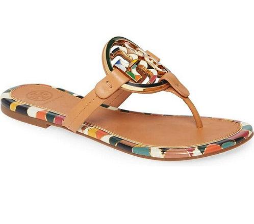 Tory Burch Enamel Logo Miller Leather Sandals