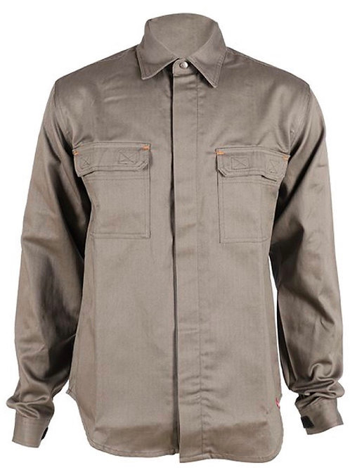 VAULT83 FR MONACO BUTTON-UP KHAKI WORK SHIRT