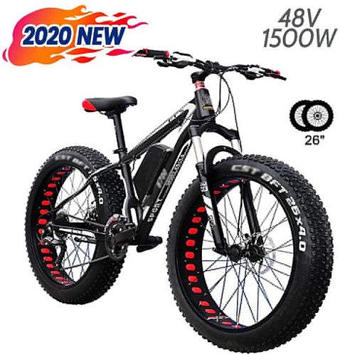 LYIETUR Fat Tire Electric Mountain Bike 26'