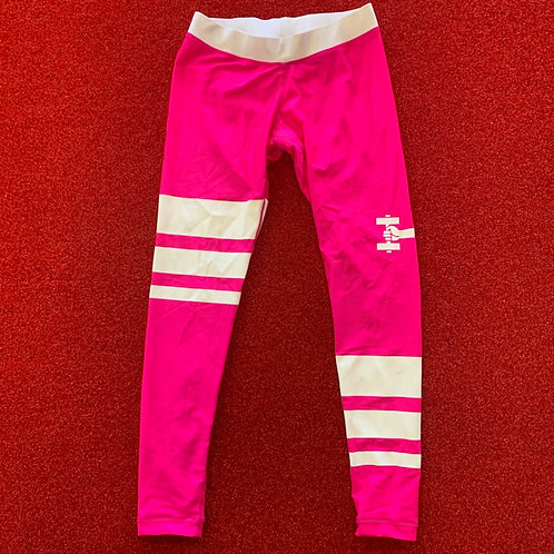 Pink workout tights