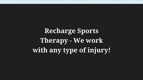 About Recharge Sports Therapy