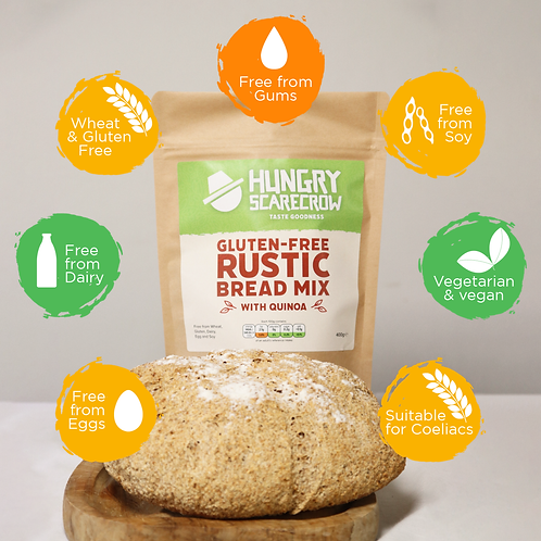 Gluten Free Rustic Bread Mix with Quinoa 400g