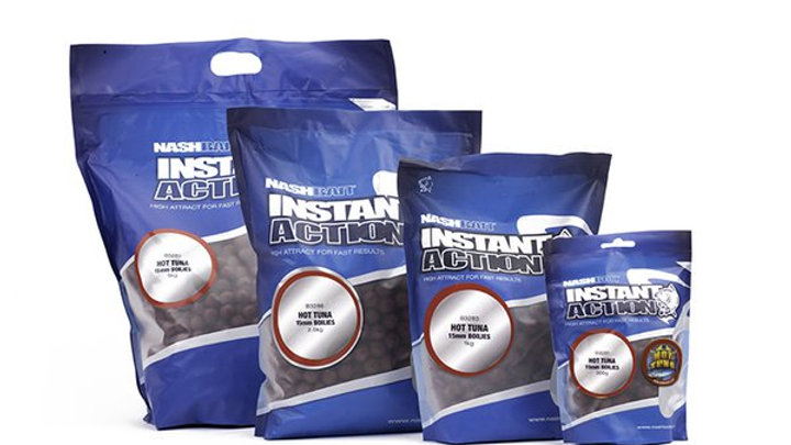 1kg Instant action Hot Tuna boilies 15mm