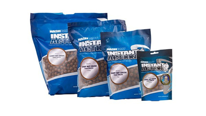 1kg instant action candy nut crush boilies 15mm