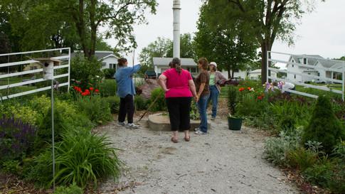 Workers at Veterans Garden