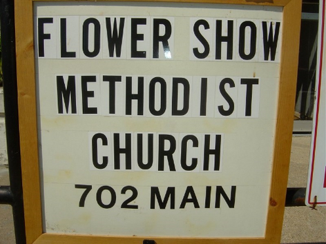 PGC Flower Show at First United Methodist Church.