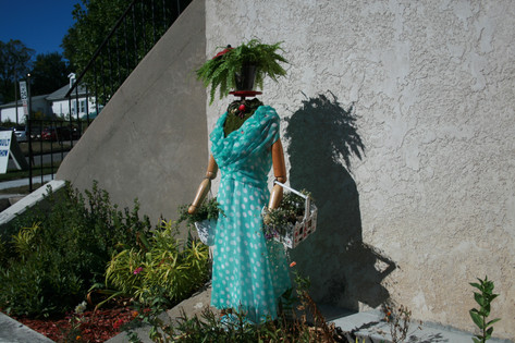 Mannequin Welcoming the Public to the PGC Flower Show