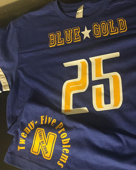 Blue & Gold Shirt. 25 Problems!! Congrat