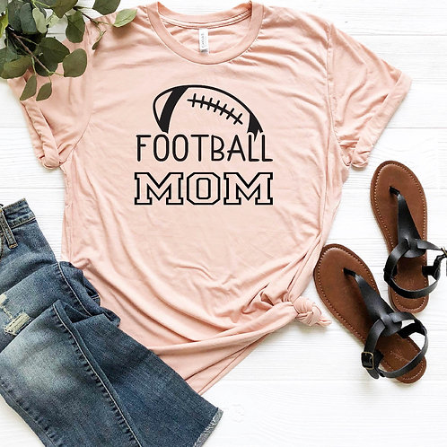Football Mom T-Shirt/Long Sleeve