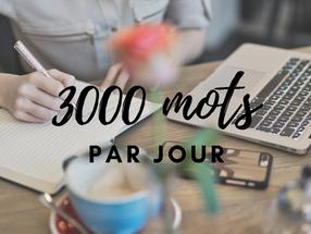 ECRIRE 3000 MOTS PAR JOUR : COMMENT JE FAIS