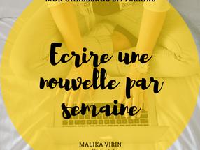 LA CHRONIQUE DE L'ECRIVAINE #2                                       MON CHALLENGE LITTERAIRE