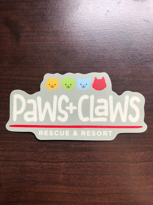 Paws+Claws Logo Sticker