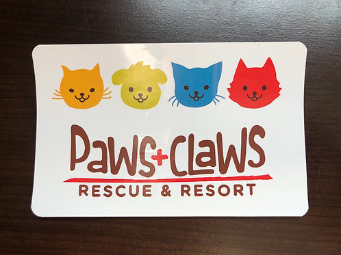 Paws+Claws Bumper Sticker