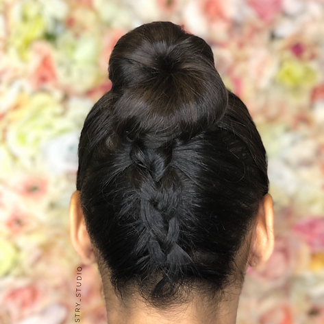 Formal updo with braid.   Leilani Artistry Studio - Coral Springs, Florida   Broward County's best hair and makeup salon.