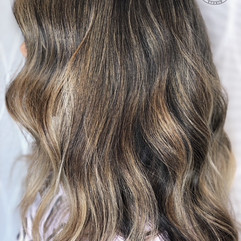 Full babylight (thin highlights), root smudge, haircut, blowdry and style.   Leilani Artistry Studio - Coral Springs, Florida   Broward County's best hair and makeup salon.